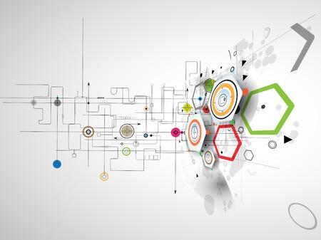Fondo abstracto del vector. La tecnología de estilo futurista. Fondo elegante para presentaciones de negocios de alta tecnología. Ilustración de vector