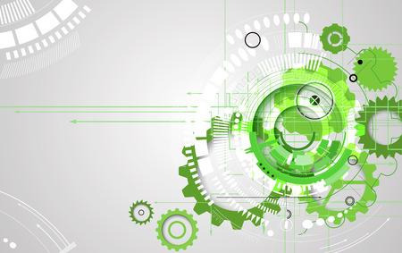 engranajes: alta tecnología eco verde ordenador infinito tecnología concepto de fondo