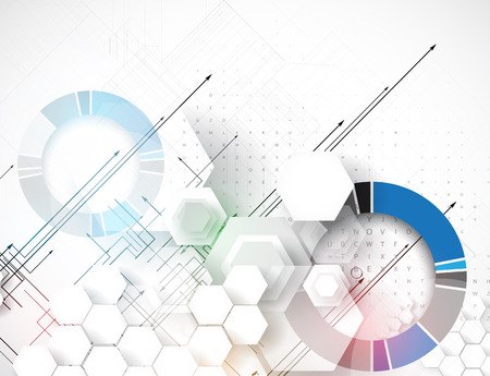 science: Abstract vector background. Futuristic technology style. Elegant background for business tech presentations.