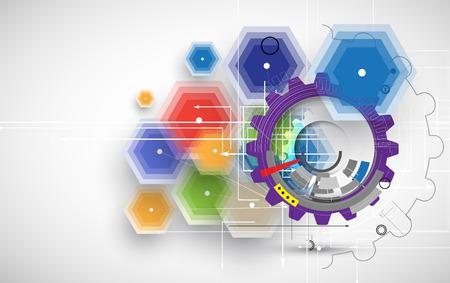 Résumé de fond de vecteur. Le style futuriste technologie. Elegant background pour les présentations d'affaires de technologie. Banque d'images - 37492276
