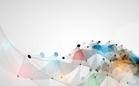 Abstract Vector Hintergrund. Futuristischer Technologiestil. Eleganter Hintergrund für Business-Tech-Präsentationen.
