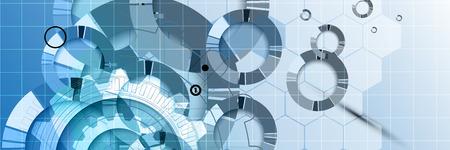 Fondo abstracto del vector. La tecnología de estilo futurista. Fondo elegante para presentaciones de negocios de alta tecnología.