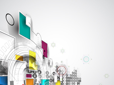 new technology: New future technology concept abstract background for business solution Illustration