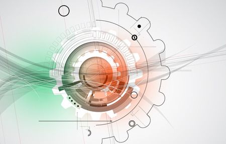 industrial scientific: New future technology concept abstract background for business solution Illustration