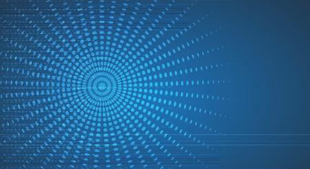 digitální: Nová budoucnost technologie koncepce abstraktní pozadí pro obchodní řešení Ilustrace