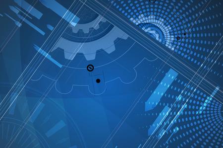 ビジネス ソリューションの新しい将来の技術概念の抽象的な背景