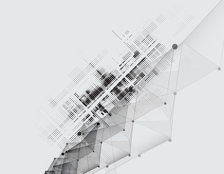 edificio industrial: Nueva futuro concepto de tecnología fondo abstracto para solución de negocio