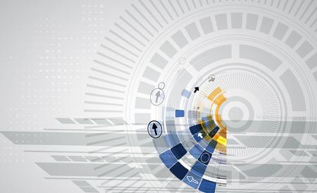 ビジネス ソリューションのための新しい未来技術概念抽象的な背景 写真素材 - 39521068