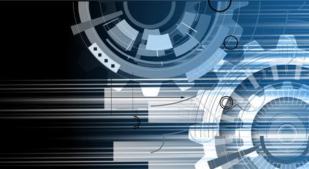 ビジネス ソリューションのための新しい未来技術概念抽象的な背景