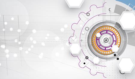 Nuovo futuro tecnologia concetto di fondo astratto per soluzione di business