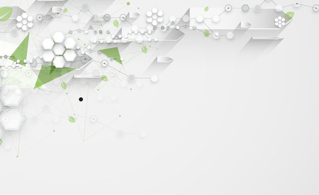 provider: high tech eco green infinity computer technology concept background