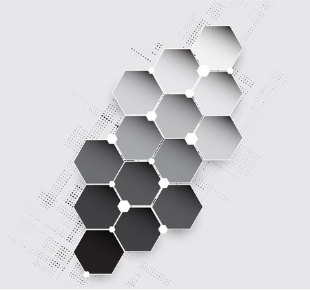 New future technology concept abstract background for business solution Vettoriali