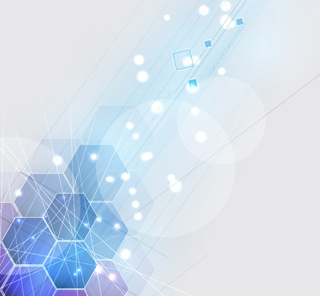New future technology concept abstract background for business solution  イラスト・ベクター素材