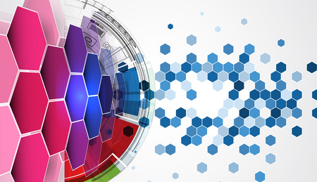 new media: New future technology concept abstract background for business solution Illustration