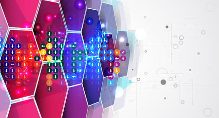 new development: New future technology concept abstract background for business solution Illustration