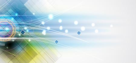 Nueva futuro concepto de tecnología fondo abstracto para solución de negocio