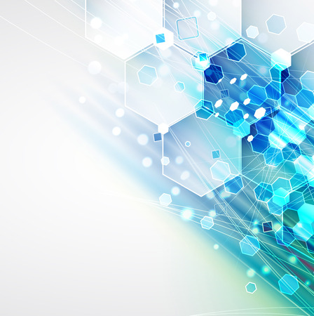 business improvement: New future technology concept abstract background for business solution Illustration