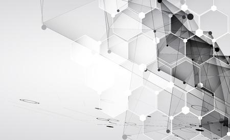 Nueva futuro concepto de tecnología fondo abstracto para solución de negocio Foto de archivo - 39876794