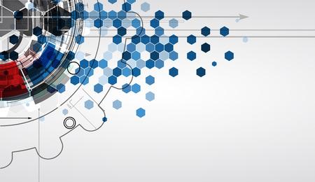 New futur concept de la technologie fond abstrait pour la solution d'affaires