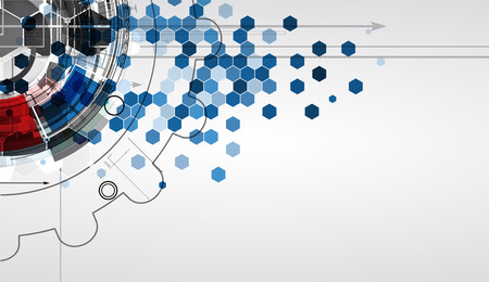 Novo futuro conceito de tecnologia abstrato para solução de negócios