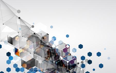 Nuovo futuro tecnologia concetto di fondo astratto per soluzione di business Vettoriali