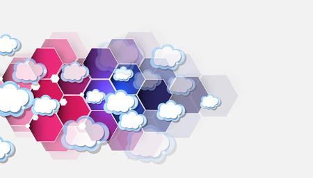 Modell Der Integration Technologie Mit Wolke Am Himmel. Die Besten Ideen  Für Die Präsentation