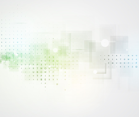 idea generation: Technology abstract background collection for business solution ideas. Vector image