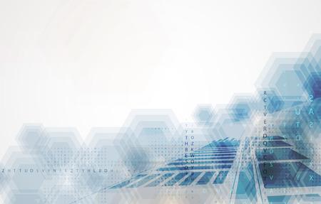 Technologie achtergrond collectie voor zakelijke oplossing ideeën. Image Vector