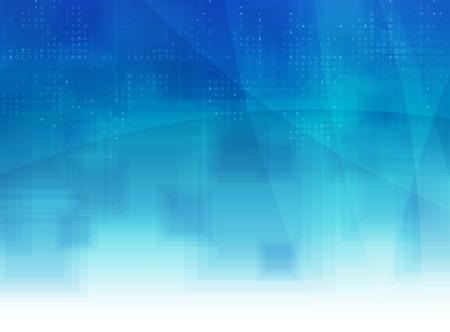 azul: Tecnología de la colección resumen de antecedentes para las ideas de soluciones de negocio. Imagen del vector Vectores