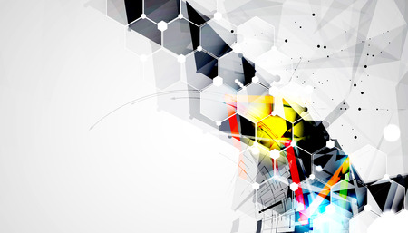 business abstract: Abstract vector background. Futuristic technology style. Elegant background for business tech presentations.