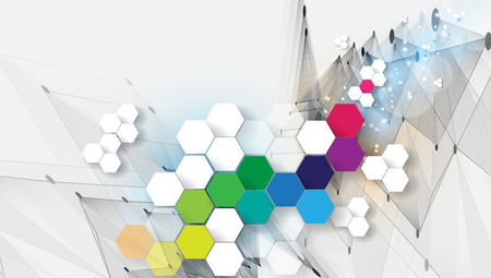colorful background: Colorful abstract geometric background for design template