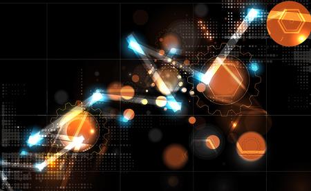 futuristic: Abstract tech background. Futuristic interface. illustration with many geometric shape.