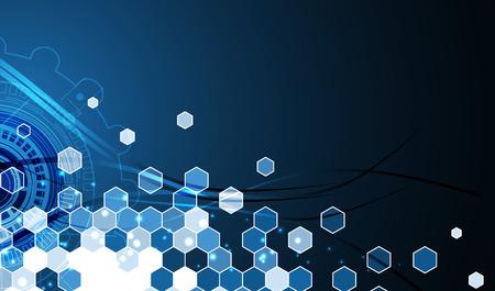 futuristic: Abstract tech background. Futuristic interface.  Illustration