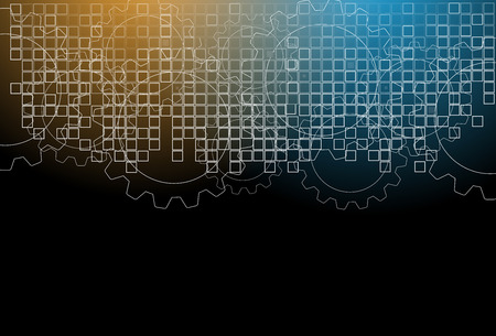 tech background: Abstract tech background. Futuristic interface. Vectores
