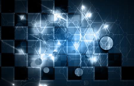 tech background: Fondo abstracto de la tecnolog�a. Interfaz futurista.