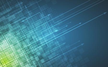 技術の背景を抽象化します。未来的なインターフェース。