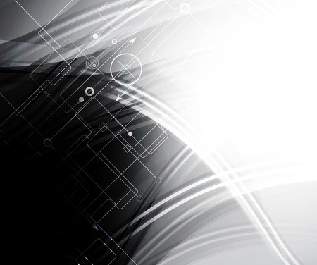 futuristic interface: Abstract tech background. Futuristic interface.  Illustration