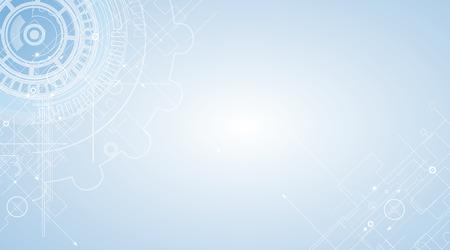 tecnologia: Fundo abstrato da tecnologia. Relação futurista. Ilustração