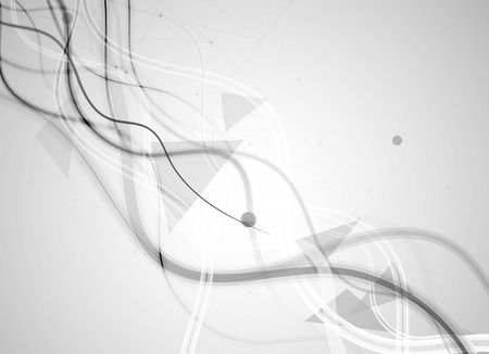 touch: Abstract tech background.