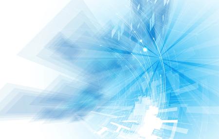 Fondo abstracto del vector. La tecnología de estilo futurista. Fondo elegante para presentaciones de negocios de alta tecnología. Foto de archivo - 43430043