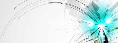 fondo elegante: Fondo abstracto del vector. La tecnología de estilo futurista. Fondo elegante para presentaciones de negocios de alta tecnología.