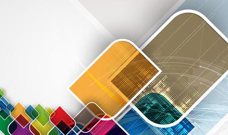forme geometrique: Abstrait arrière-plan de la technologie. L'interface futuriste. Vector illustration avec beaucoup de forme géométrique. Illustration