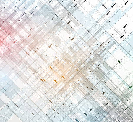 abstract backgrounds: Abstract tech background. Futuristic interface. Vector illustration with many geometric shape. Illustration