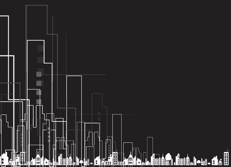 abstraktní realitní městský okruh zrcadlo obchodní zázemí