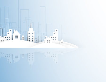 housing project: abstract real estate city circuit mirror business background Illustration