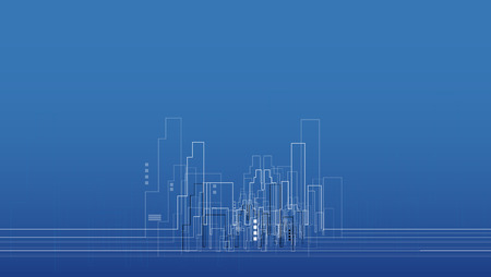 abstract real estate city circuit mirror business background  イラスト・ベクター素材