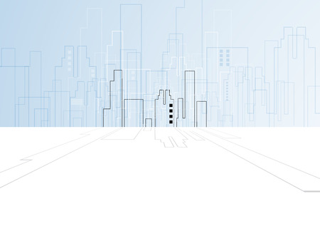 abstract real estate city circuit mirror business background Illustration