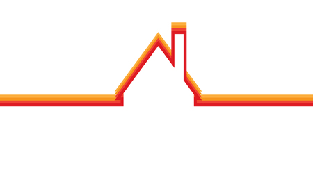 home logo: Building and real estate city illustration. Abstract background for business presentation, sale, rent