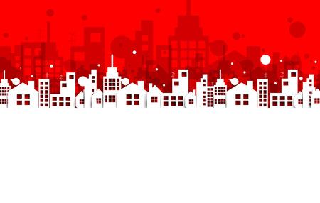 Bauwesen und Immobilien Stadt Illustration. Abstrakten Hintergrund für Business-Präsentation, Verkauf, Vermietung Vektorgrafik