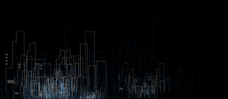 estates: Building and real estate city illustration. Abstract background for business presentation, sale, rent